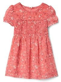 Red Dress clipart smocked Floral Gap® Dresses ruffle smocked