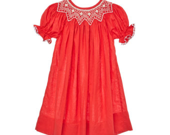 Red Dress clipart smocked Red Etsy Dress Smocked Smocked