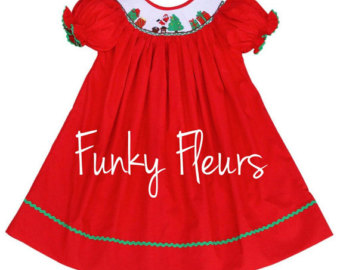 Red Dress clipart smocked IN Smocked Christmas Smocked Christmas