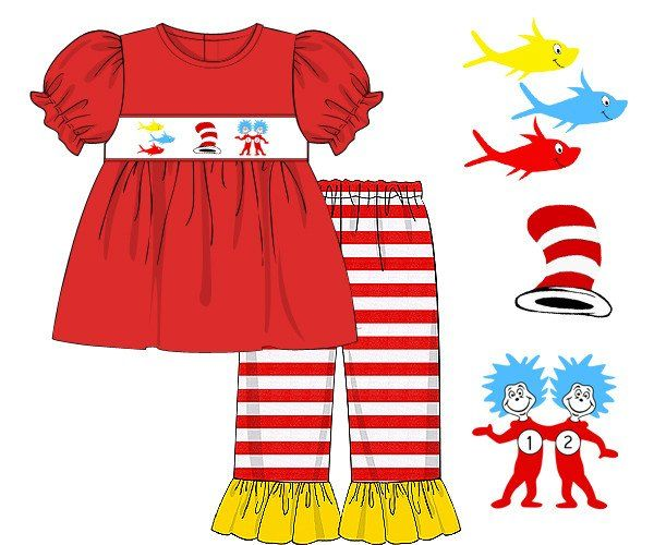 Red Dress clipart smocked Girls Pants images Pinterest 56
