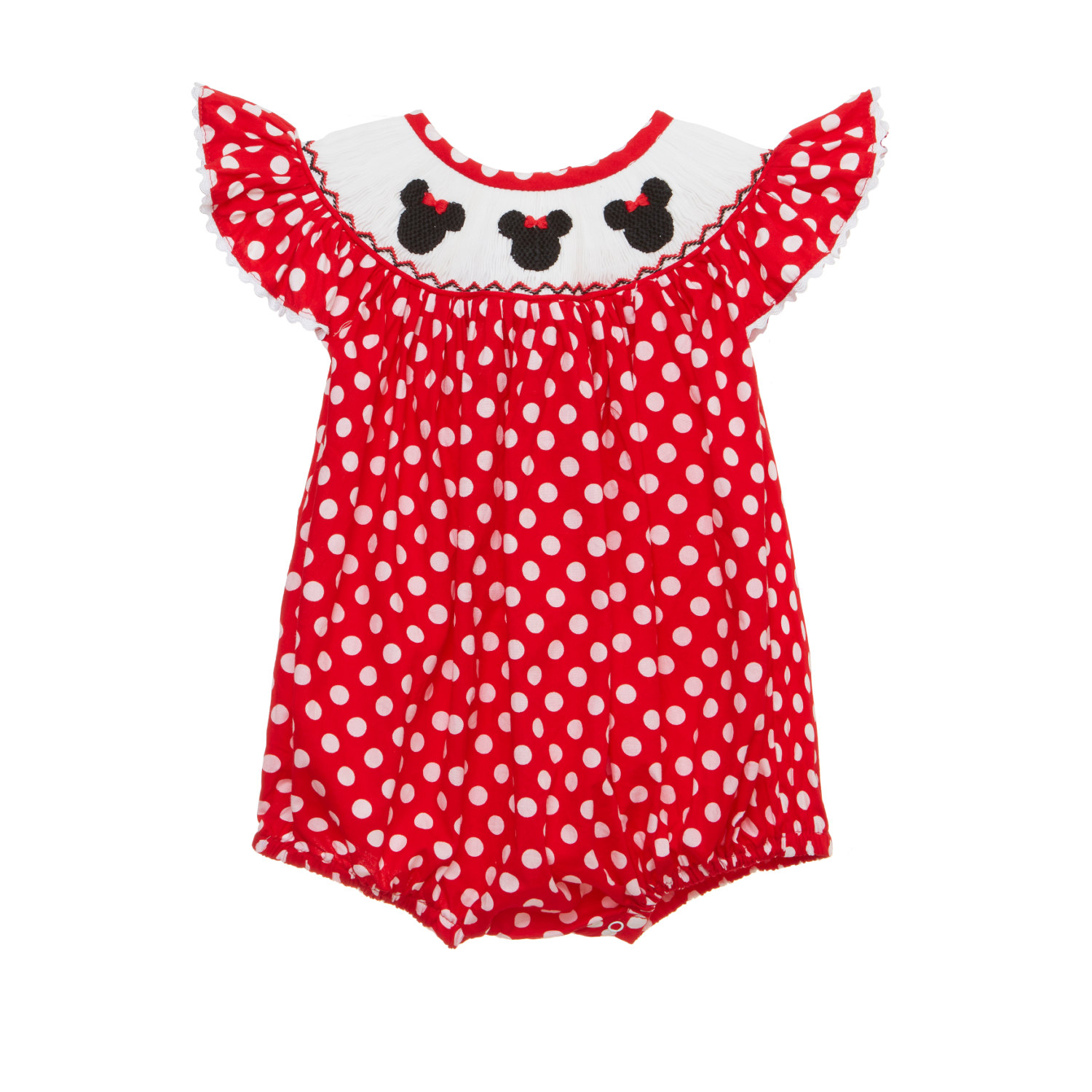 Red Dress clipart smocked Mouse Romper bubble Red with