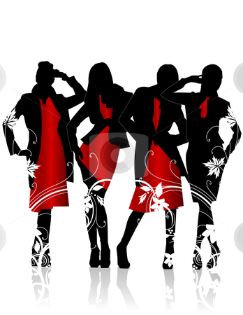 Red Dress clipart woman dress Stock stock Silhouettes Clip clipart