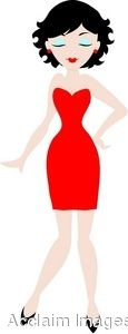 Red Dress clipart woman dress Clipart in Free Dress Info