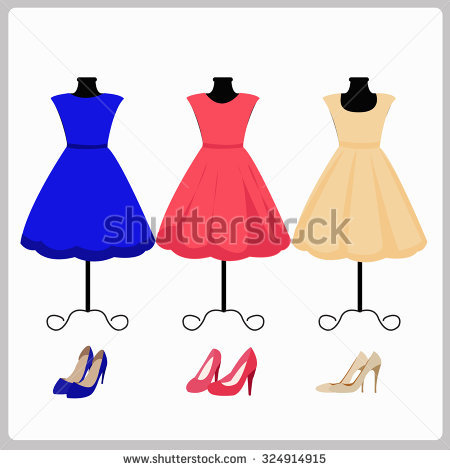Red Dress clipart woman dress Vector Pinup woman Stock 6