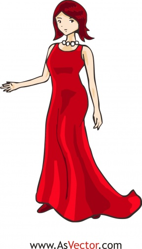 Red Dress clipart woman dress A Dress clipart in In