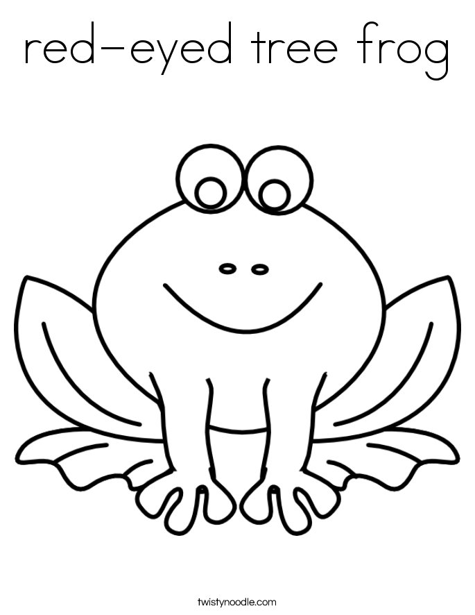 Red Eyed Tree Frog clipart coloring page To Frog red frog color