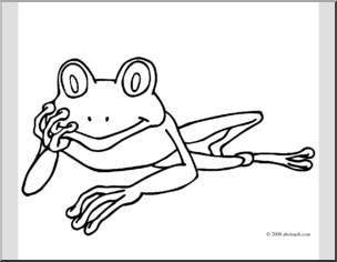 Red Eyed Tree Frog clipart coloring page  Clip I abcteach Clip