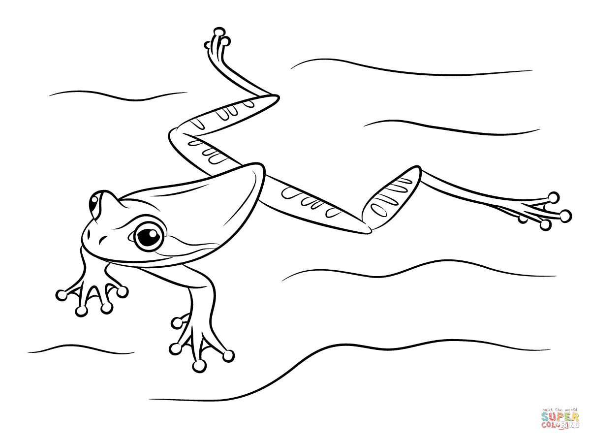 Red Eyed Tree Frog clipart coloring page Coloring page Masked Pages Tree
