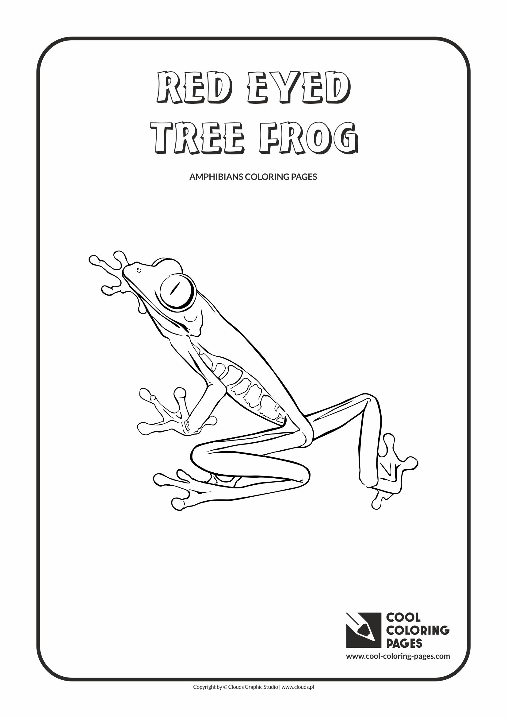 Red Eyed Tree Frog clipart coloring page Page Tree Red photo#24 Red