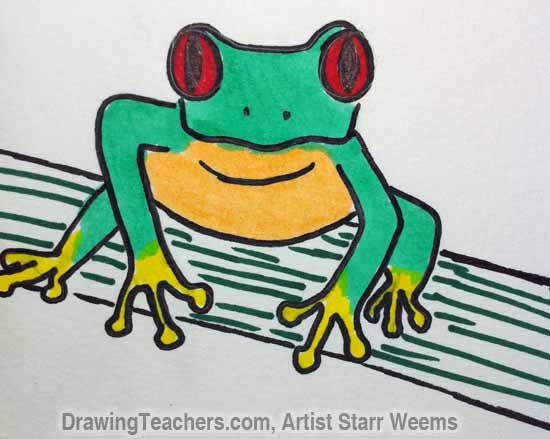 Red Eyed Tree Frog clipart draw a #13