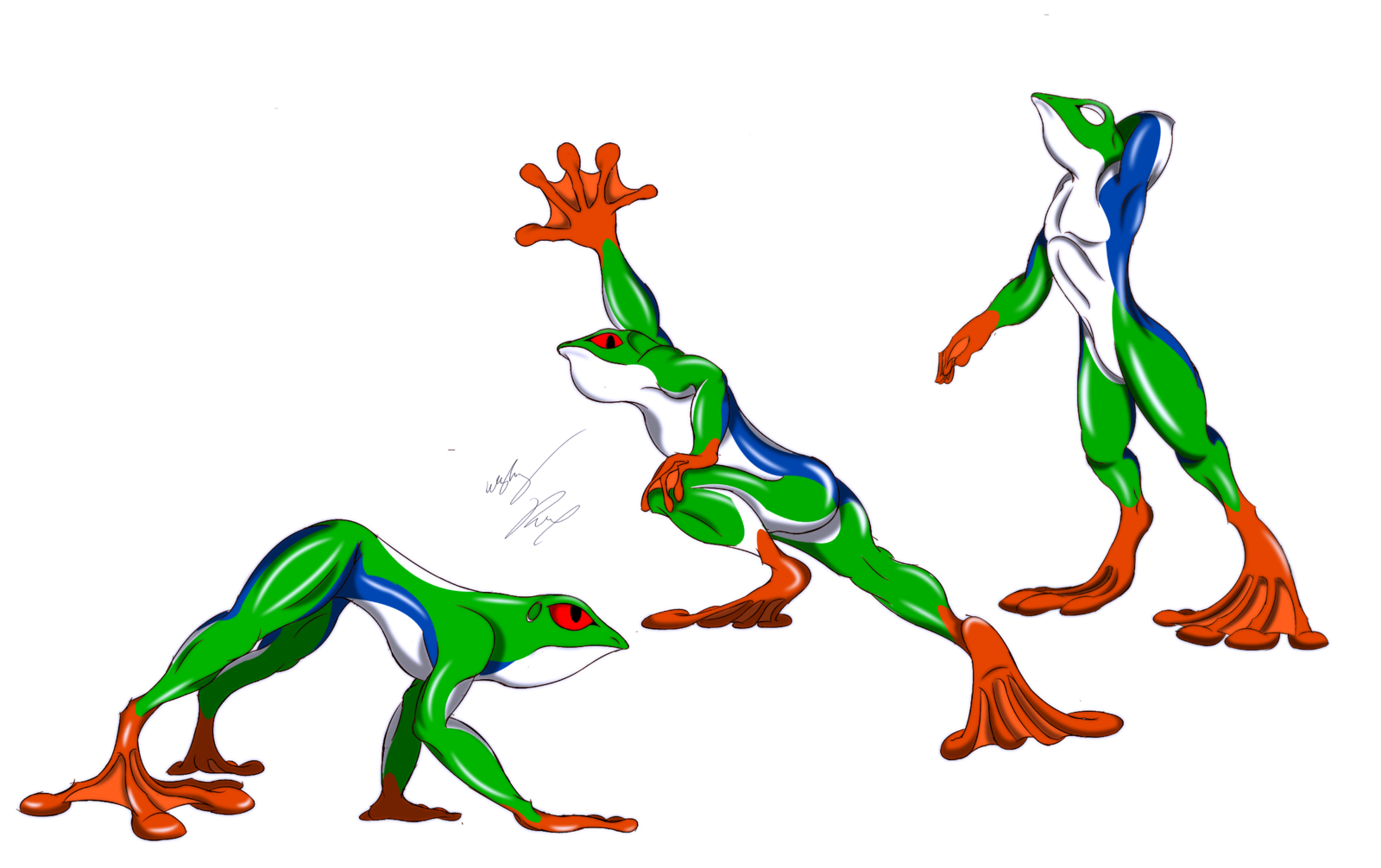 Red Eyed Tree Frog clipart draw a #7
