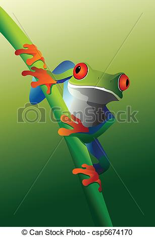 Red Eyed Tree Frog clipart drawn #8
