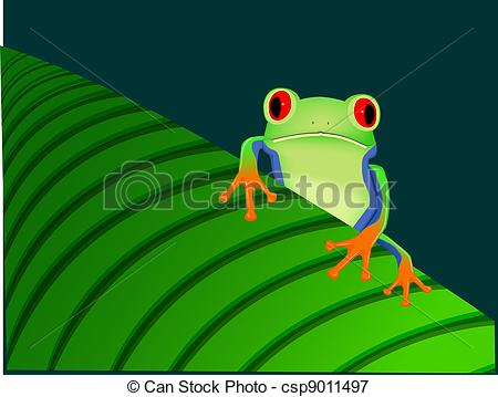 Red Eyed Tree Frog clipart drawn #7