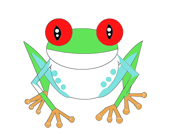 Tree Frog clipart red eyed tree frog #2