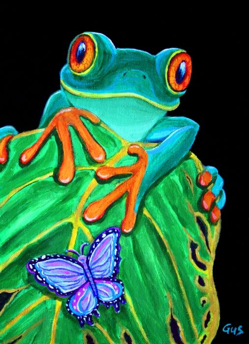 Red Eyed Tree Frog clipart realistic #4