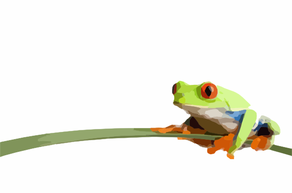 Red Eyed Tree Frog clipart small frog #13