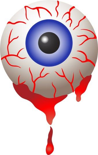 Zombie clipart eyeball Swollen Red Eyes – Clipart