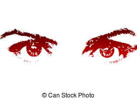 Red Eyes clipart Illustrations Red and eyes Red