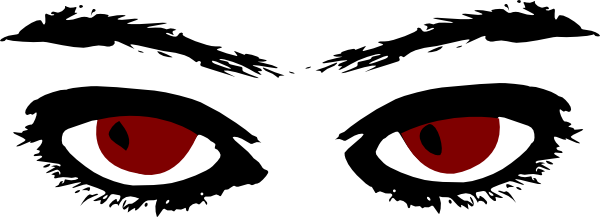 Red Eyes clipart Clker clip Art image as: