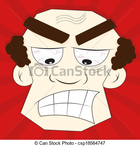 Red Eyes clipart anger #14