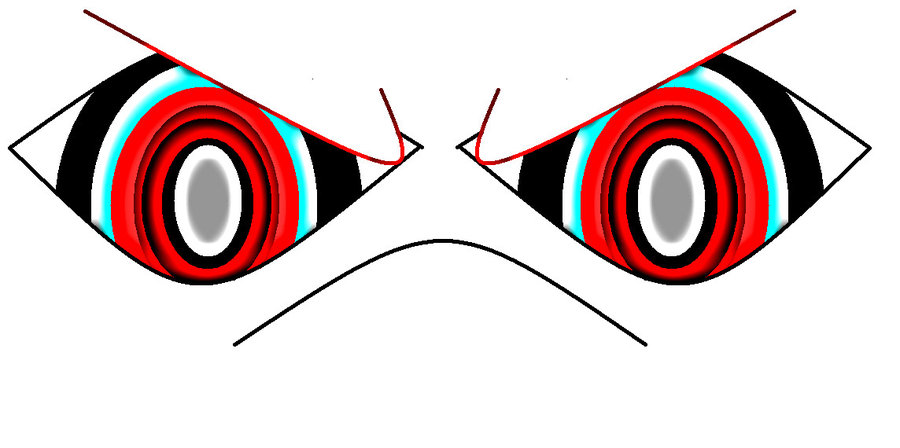 Red Eyes clipart anger #8