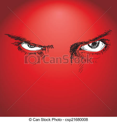 Red Eyes clipart anger #6