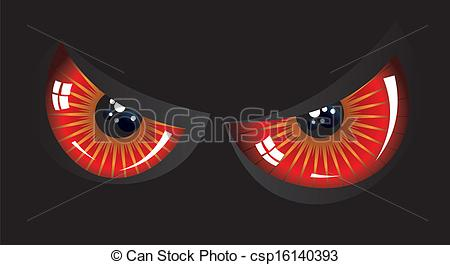 Red Eyes clipart anger #3