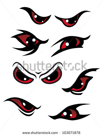 Red Eyes clipart anger #9