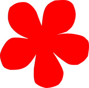 Red Flower clipart Clip Border Clipart Art Images
