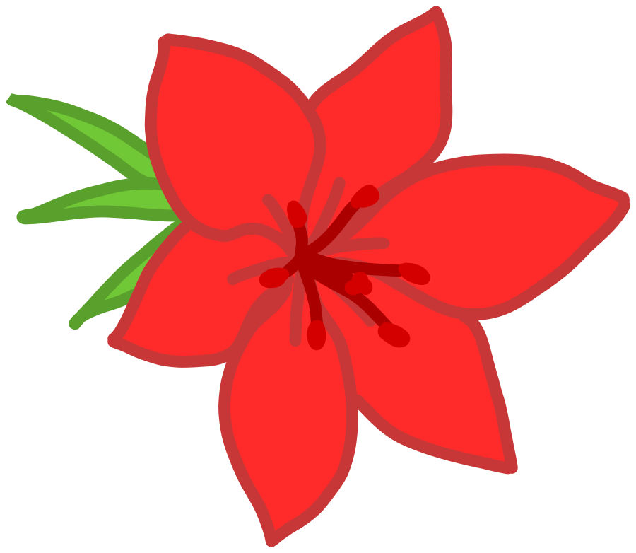 Pink Flower clipart large flower Red Clip Flower 1 Red
