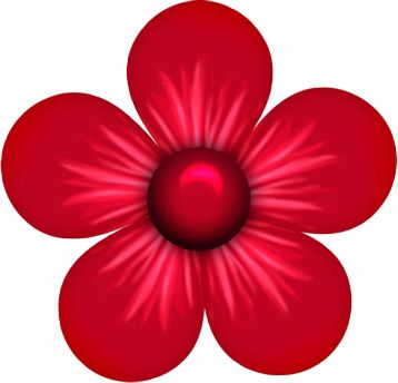 Red Flower clipart Flowers & on best Flowers
