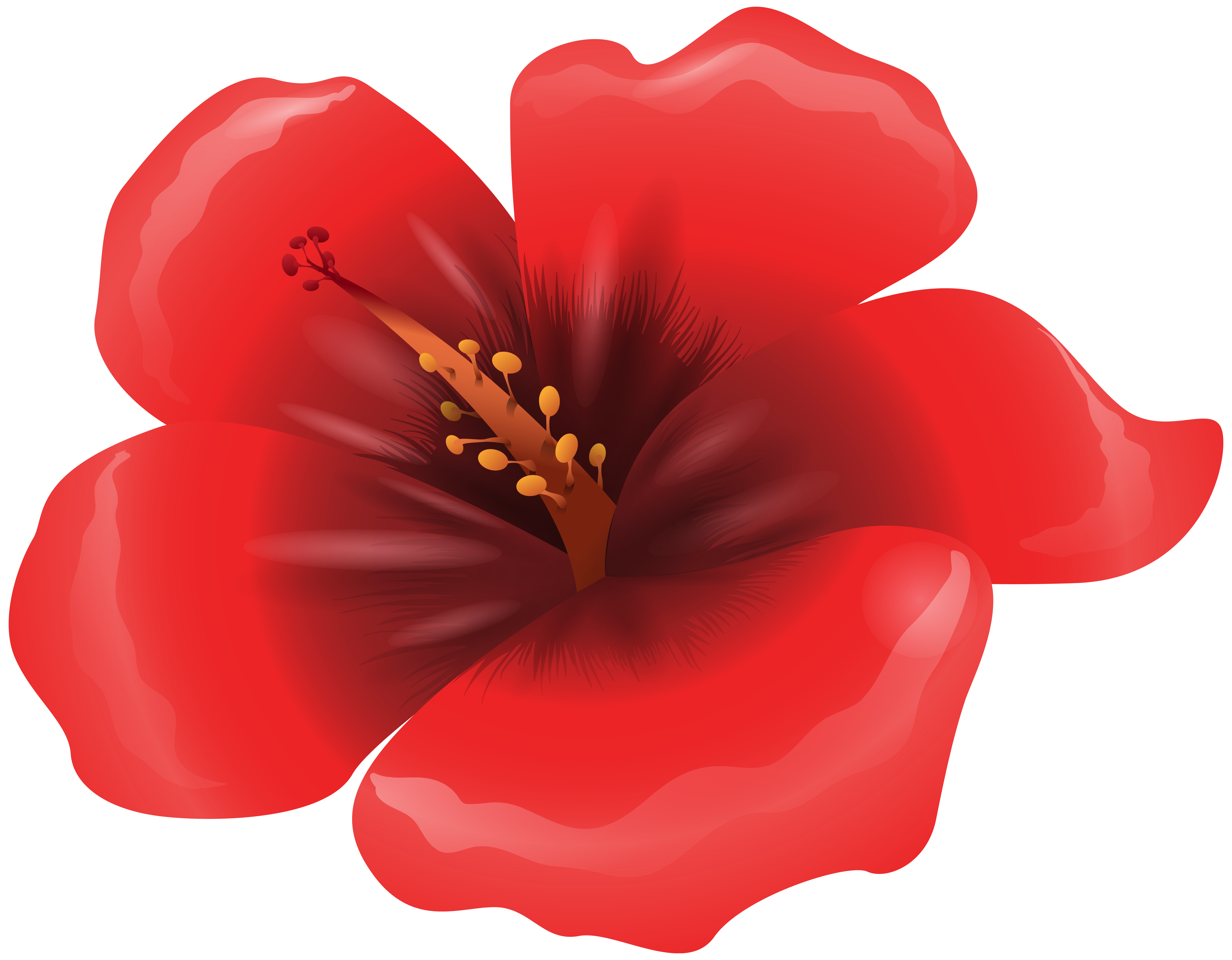 Red Flower clipart PNG Clipart Gallery Large