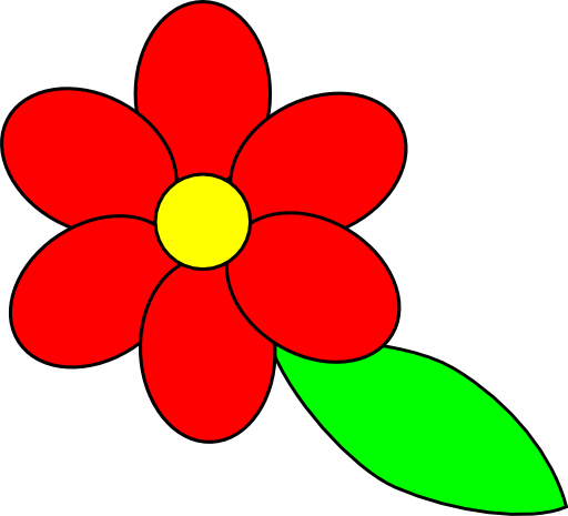 Red Flower clipart Clipart flower Collection with in