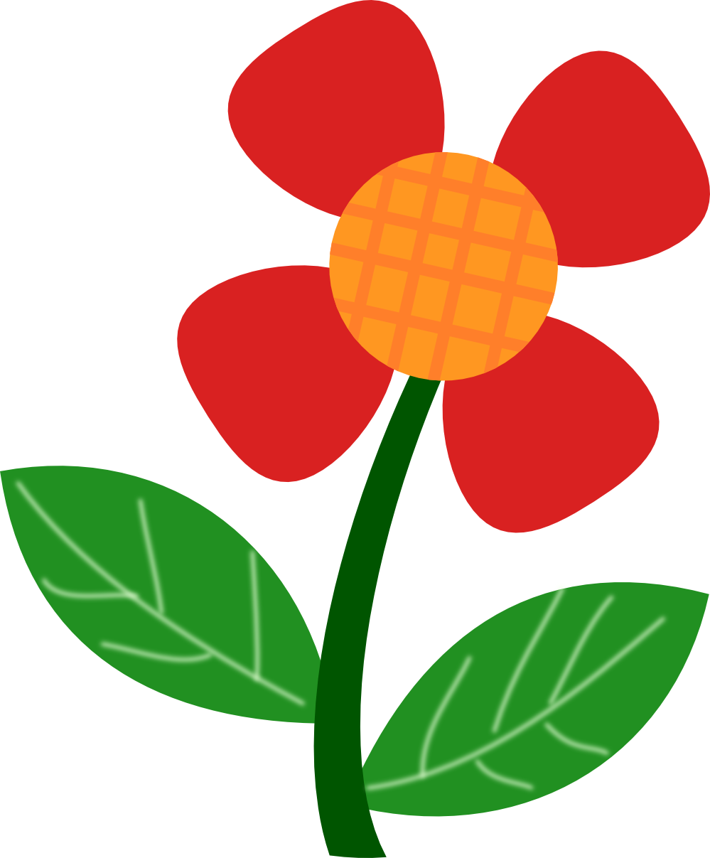 Red Flower clipart  Wallpapers Free HD Art