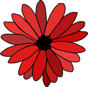 Red Flower clipart Panda Clipart Clipart Border Red