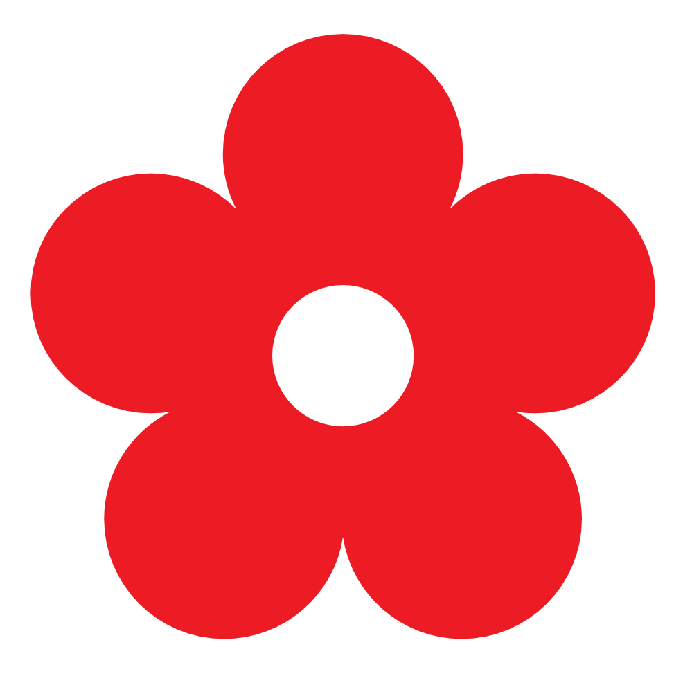 Red Flower clipart Red Art Border Clip Clip