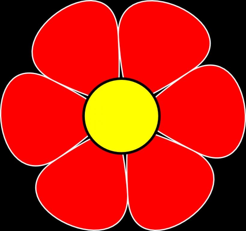 Red Flower clipart Clip red flower clipartsco art