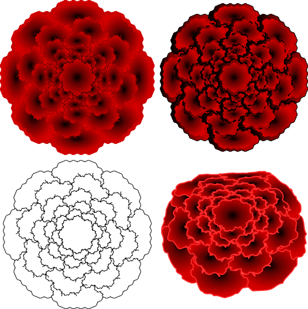 Red Flower clipart abstract #11