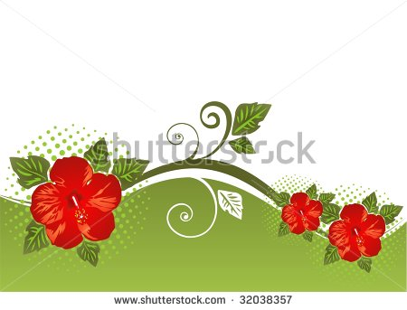Red Flower clipart abstract #4