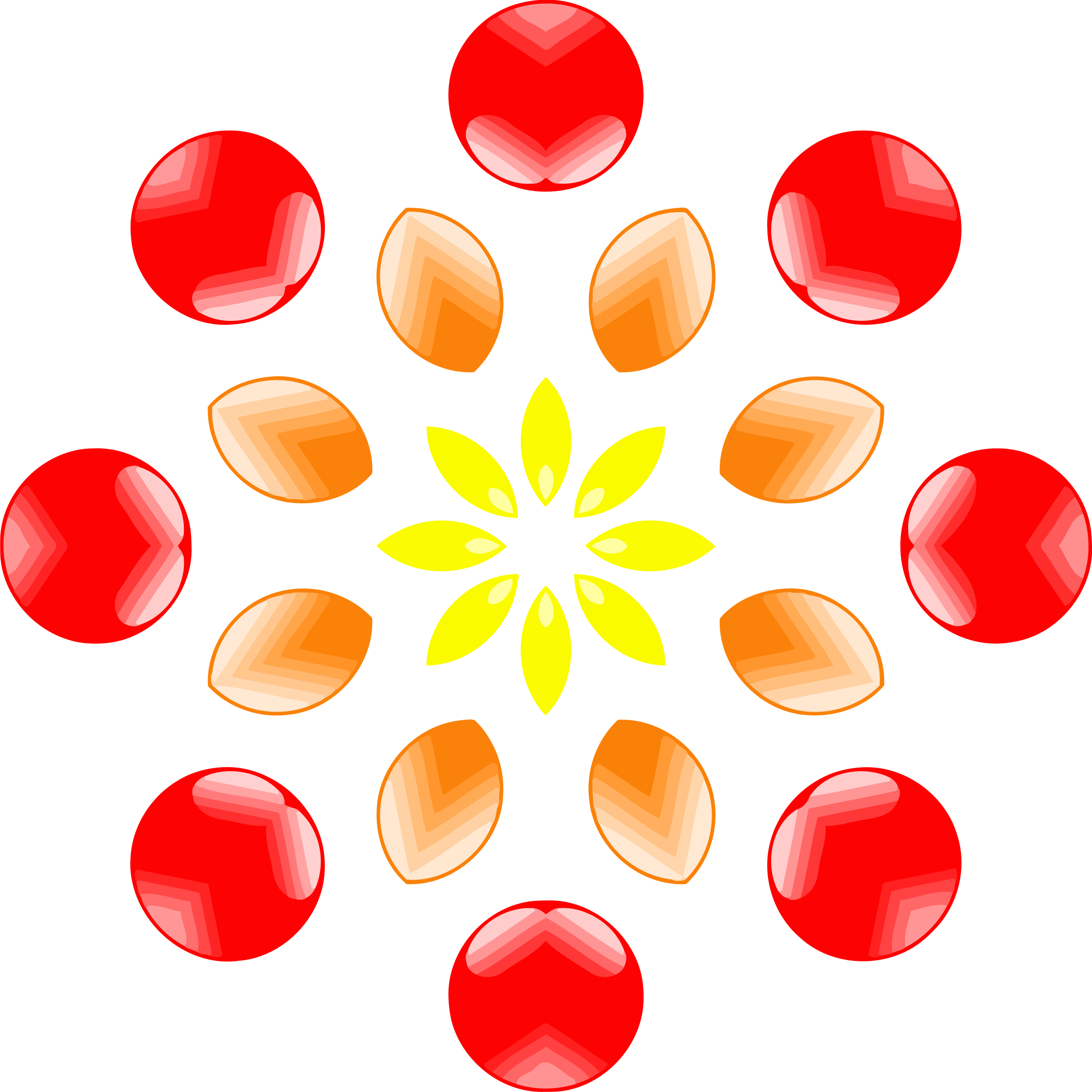 Red Flower clipart abstract #5