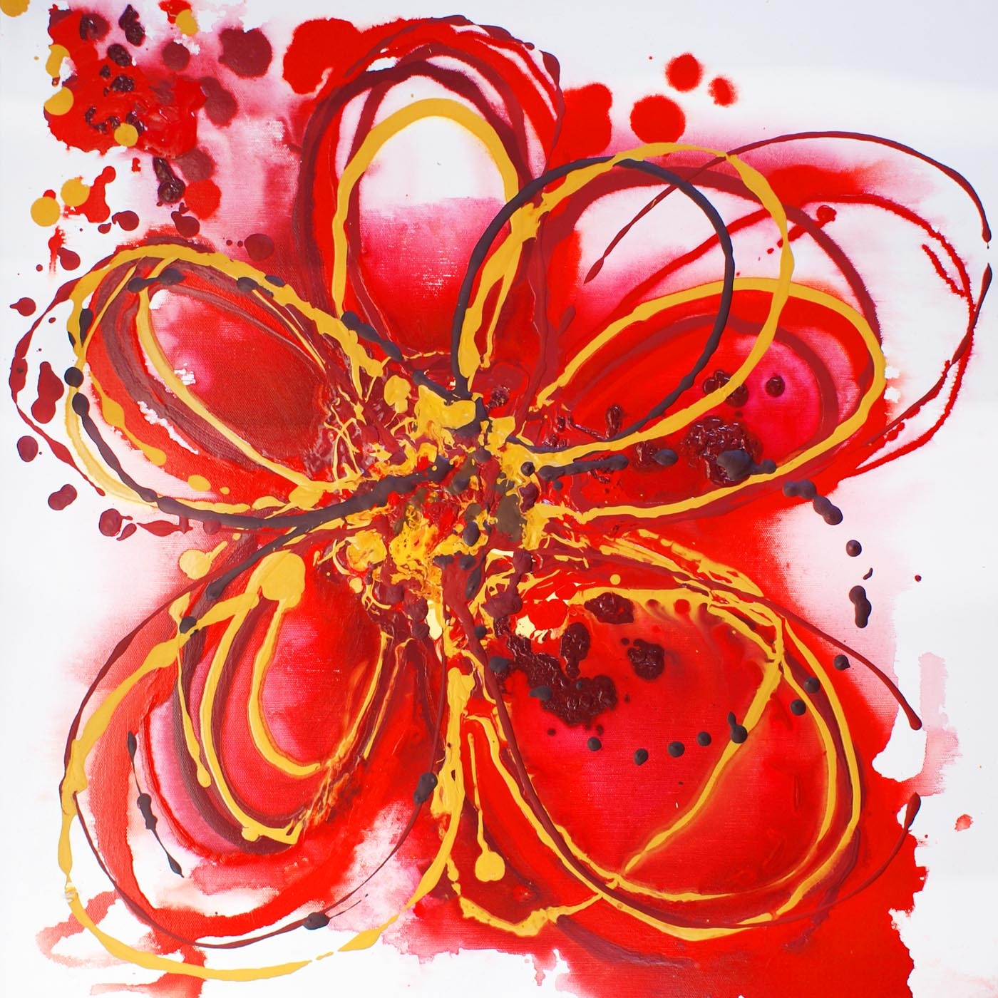 Red Flower clipart abstract #13