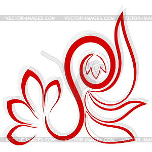 Red Flower clipart abstract #6
