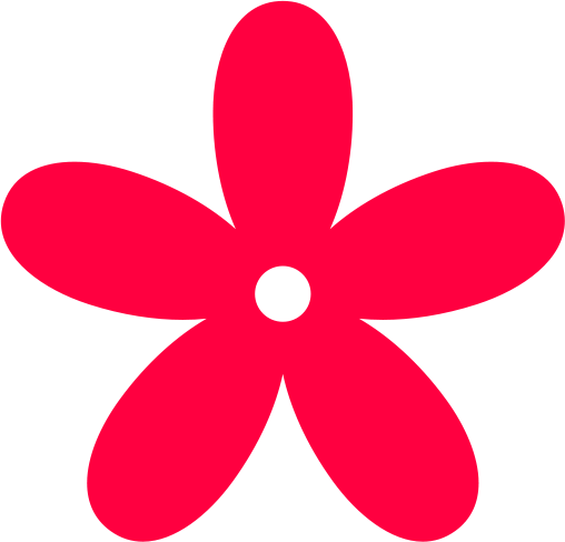 Red Flower clipart abstract #10
