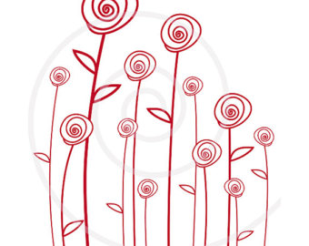 Red Flower clipart abstract #12