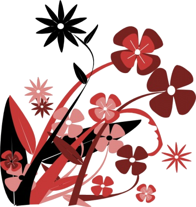 Red Flower clipart abstract #9