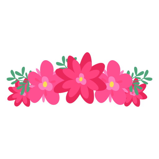 Red Flower clipart crown #13