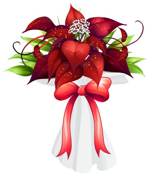 Red Flower clipart marriage flower #10