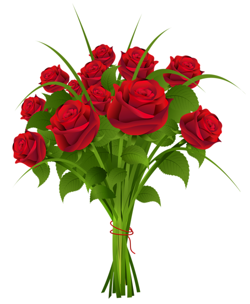 Red Flower clipart marriage flower #8