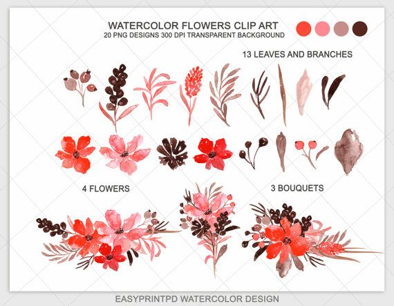 Red Flower clipart marriage flower #9