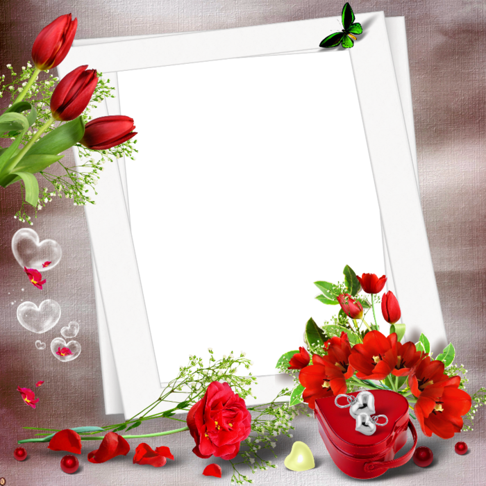 Red Flower clipart nice view #5